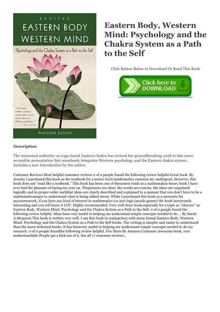 eastern body western mind pdf free download