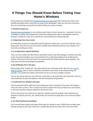 6 Things You Should Know Before Tinting Your Home's Windows