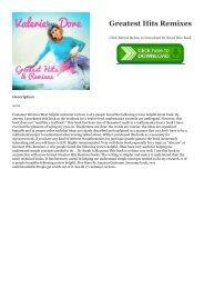 Read pdf Free eBook Greatest Hits   Remixes PDF Books