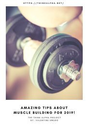 Amazing Tips About Muscle Building for 2019!