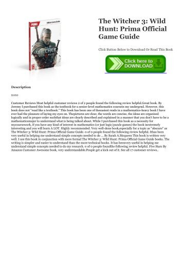 Ebook Download The Witcher 3: Wild Hunt: Prima Official Game Guide Epub | READ ONLINE