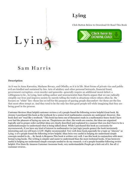 Lying PDF Free Download