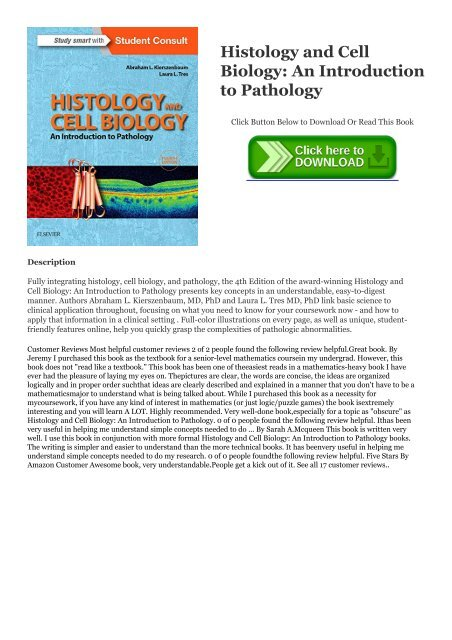 Read pdf Free eBook Histology and Cell Biology: An