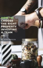 How to:  Choose the Right Property Investing A-Team