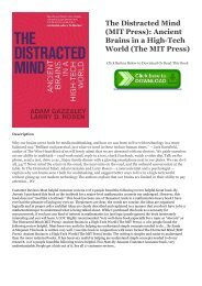 DOWNLOAD BOOK The Distracted Mind (MIT Press): Ancient Brains in a High-Tech World (The MIT Press) Full PDF