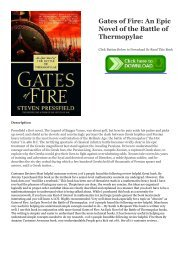 Gates Of Fire Epub
