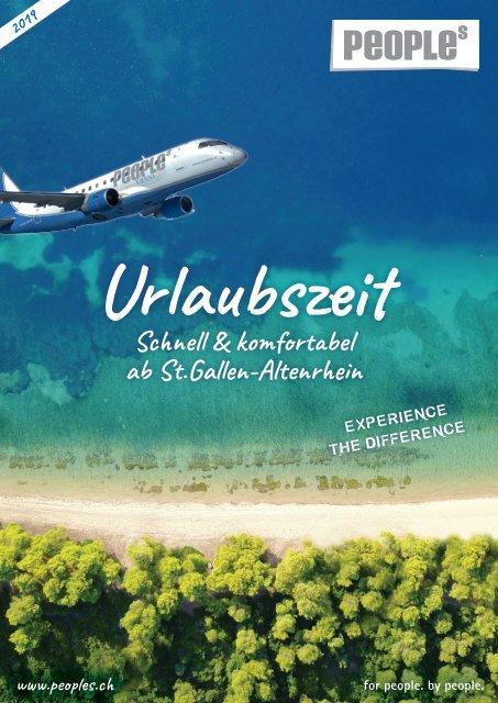 Urlaubszeit - Schnell & komfortabel ab St.Gallen-Altenrhein