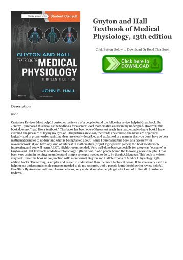 Guyton Medical Physiology 13th Edition Pdf