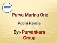 Purva Marina One luxury and smart apartments for sale in Kochi