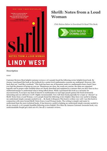 [Ebook] Download Shrill: Notes from a Loud Woman Epub | READ ONLINE