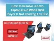 How To Resolve Lenovo Laptop Issue When DVD Player Is Not