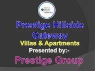 Luxury apartments and villas for sale is Prestige Hillside Gateway Kochi