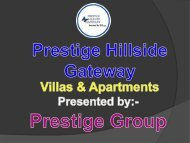 Luxury apartments and villas for sale is Prestige Hillside Gateway Kochi