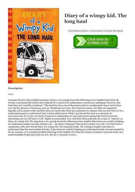 Diary Of A Wimpy Kid Long Haul Ebook