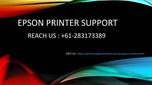 EPSON PRINTER SUPPORT - pdf
