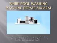 Find the Whirlpool Washing Machine Repair in Mumbai