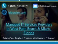 Managed IT Services Providers In West Palm Beach & Miami  Florida