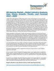 AR Gaming Market