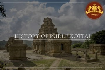 History of pudukkottai