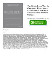 R.E.A.D. [BOOK] The Nordstrom Way to Customer Experience Excellence: Creating a Values-driven Service Culture [R.A.R]