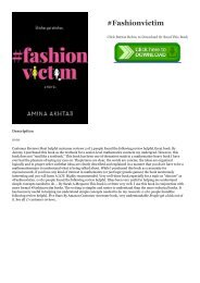 Download [ebook]$$ #Fashionvictim hardcover$