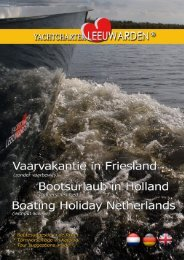 Bootverhuur Yachtcharter Leeuwarden, vaarvakantie Friesland