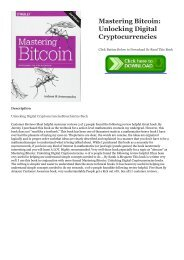 mastering bitcoin unlocking digital cryptocurrencies