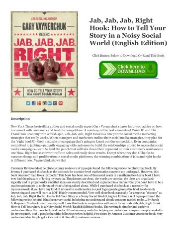 Pdf Top Trend Jab Jab Jab Right Hook How To Tell Your Story In