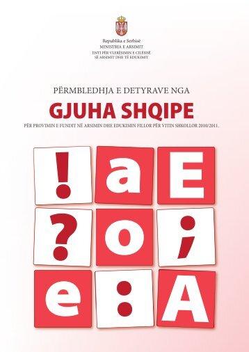 GJUHA SHQIPE - Presheva