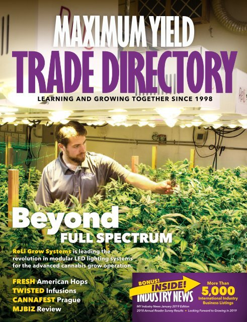 Maximum Yield S Trade Directory Industry News Special Edition