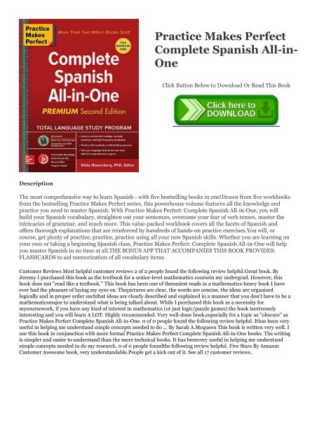 PDF Practice Makes Perfect Complete Spanish All-in-One