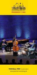 JazzTime Ravensburg Programm 01/2018