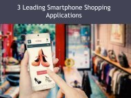 3 Leading Smartphone Shopping Applications