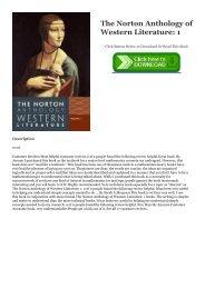 Norton Anthology Of Western Literature Pdf