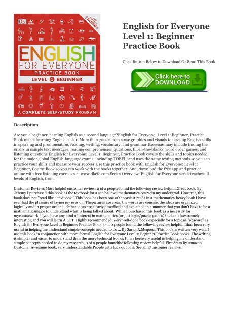 BOOK] English for Everyone Level 1: Beginner Practice Book