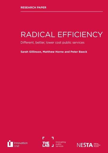 RADICAL EFFICIENCY - Mental Health First Aid