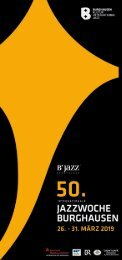 Programmflyer 50. Internationale Jazzwoche Burghausen