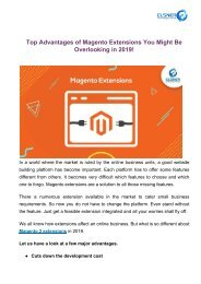 Top Advantages of Magento Extensions You Might Be Overlooking in 2019! (8)