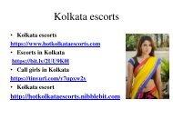Top best Kolkata escort service call girls