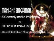 Man and Superman - Pennsylvania State University