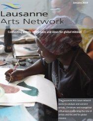 Lausanne Arts Newsletter January 2019