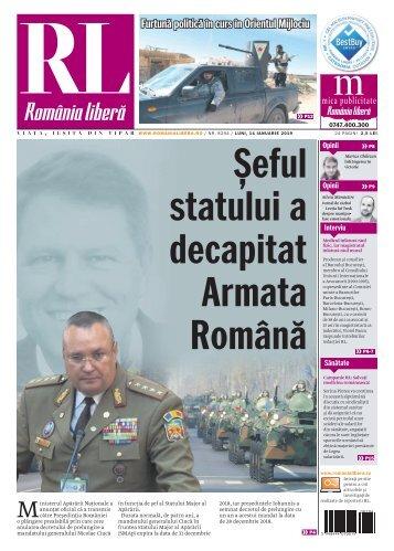 România liberă, luni, 14 ianuarie 2019