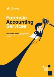 Crowe Forensic Accounting Services JM