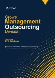 Crowe Management Outsourcing Division