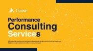 Crowe Performance Consuting Services  JM