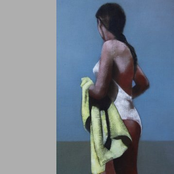Martine Pinsolle's beach paintings