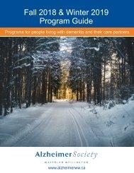 Fall 2018 & Winter 2019 Program Guide