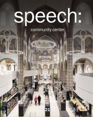 speech: 21 community centre