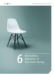 Eventbranchenbuch Mietmobilar, Dekoration & Non-Food-Catering 2019