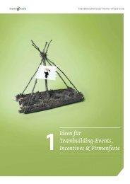 Eventbranchenbuch Ideen für Teambuilding-Events, Incentives & Firmenfeste 2019